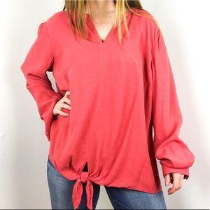 J. Jill pink knot front blouse